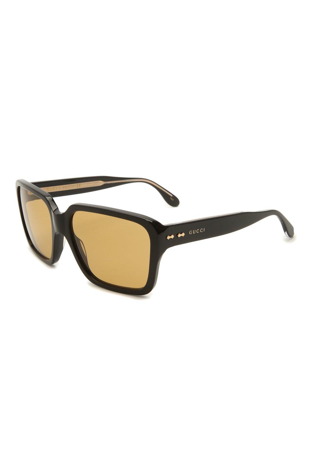 Мужские солнцезащитные очки GUCCI черного цвета, арт. GG0786S 001   Фото 1