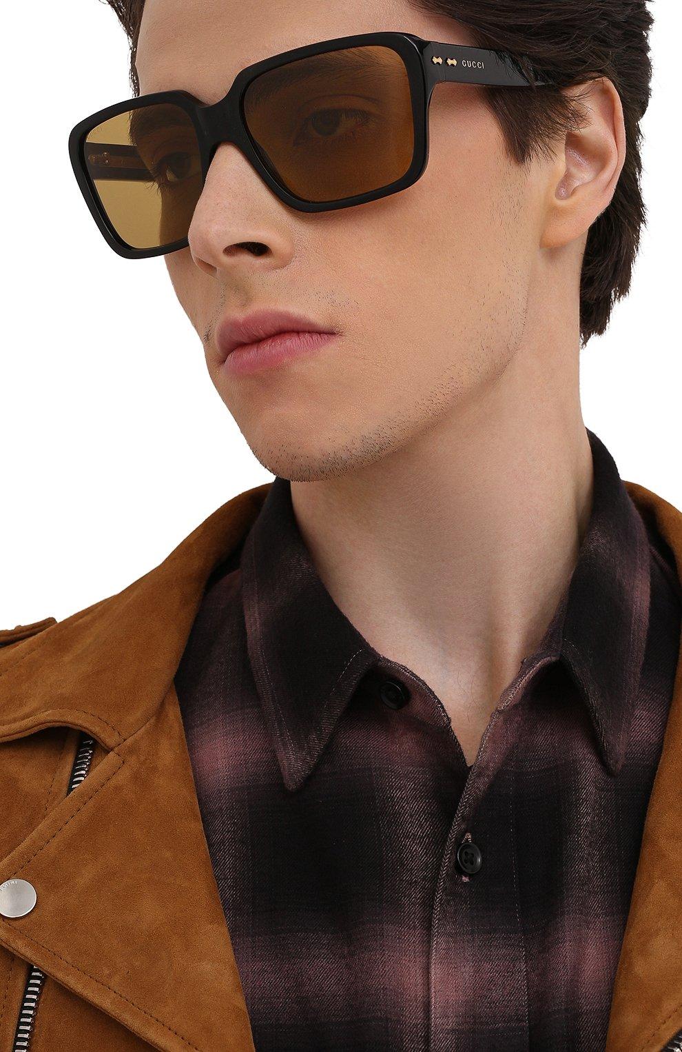 Мужские солнцезащитные очки GUCCI черного цвета, арт. GG0786S 001   Фото 2