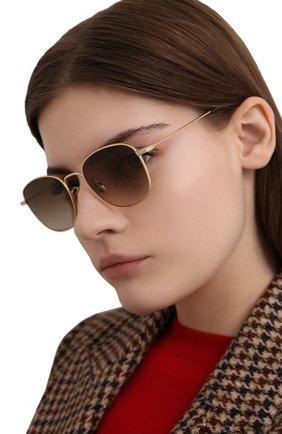 Женские солнцезащитные очки SAINT LAURENT золотого цвета, арт. SL 299 008 | Фото 2
