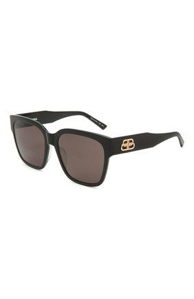Женские солнцезащитные очки BALENCIAGA черного цвета, арт. BB0056S 001 | Фото 1