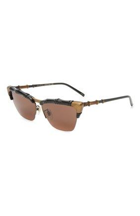 Женские солнцезащитные очки GUCCI коричневого цвета, арт. GG0660S 001   Фото 1