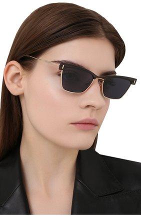 Женские солнцезащитные очки GENTLE MONSTER черного цвета, арт. KAL0 032(N) | Фото 2