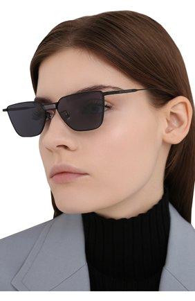 Женские солнцезащитные очки GENTLE MONSTER черного цвета, арт. KARMA M01 | Фото 2