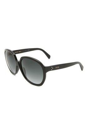 Женские солнцезащитные очки CELINE EYEWEAR черного цвета, арт. CL40147I 01B | Фото 1