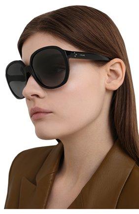 Женские солнцезащитные очки CELINE EYEWEAR черного цвета, арт. CL40147I 01B | Фото 2