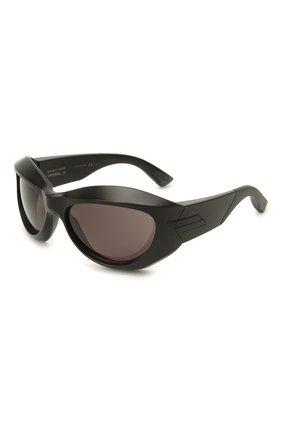 Женские солнцезащитные очки BOTTEGA VENETA черного цвета, арт. BV1087S 001 | Фото 1