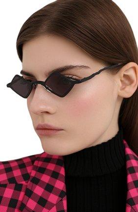 Женские солнцезащитные очки KUB0RAUM черного цвета, арт. Z14 BM 2GRAY | Фото 2