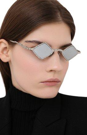 Женские солнцезащитные очки KUB0RAUM серебряного цвета, арт. Z14 SI SILVER | Фото 2