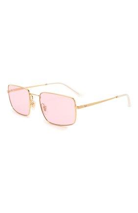 Женские солнцезащитные очки RAY-BAN розового цвета, арт. 3669-001/Q3 | Фото 1