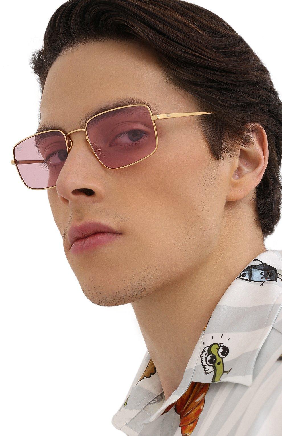 Женские солнцезащитные очки RAY-BAN розового цвета, арт. 3669-001/Q3 | Фото 3