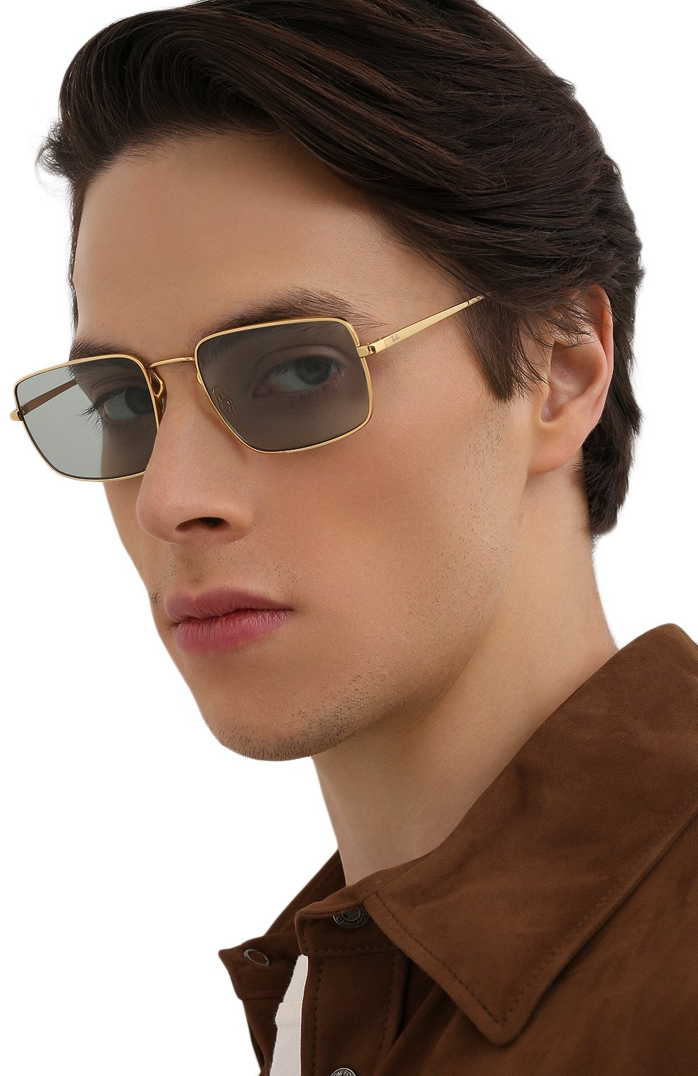 Женские солнцезащитные очки RAY-BAN бирюзового цвета, арт. 3669-001/Q5 | Фото 3