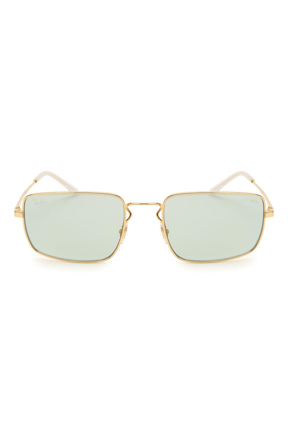 Женские солнцезащитные очки RAY-BAN бирюзового цвета, арт. 3669-001/Q5 | Фото 4