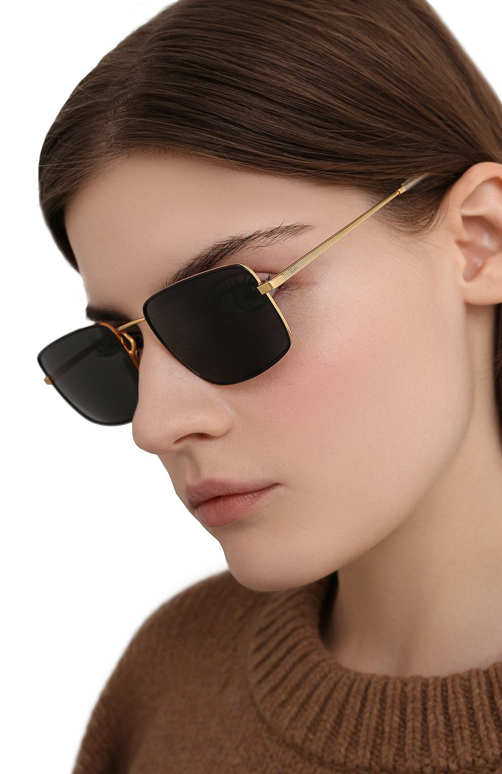 Женские солнцезащитные очки RAY-BAN черного цвета, арт. 3669-905487   Фото 2