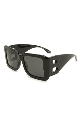 Женские солнцезащитные очки BURBERRY черного цвета, арт. 4312-300187   Фото 1 (Тип очков: С/з; Оптика Гендер: оптика-женское; Очки форма: Квадратные)