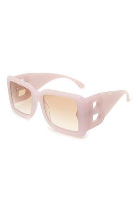 Женские солнцезащитные очки BURBERRY светло-розового цвета, арт. 4312-384913   Фото 1 (Тип очков: С/з; Оптика Гендер: оптика-женское; Очки форма: Квадратные)