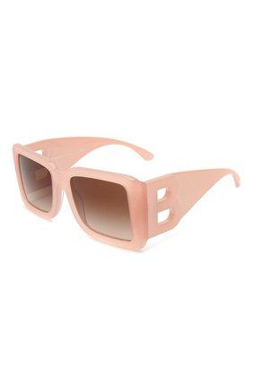 Женские солнцезащитные очки BURBERRY розового цвета, арт. 4312-387413   Фото 1 (Тип очков: С/з; Оптика Гендер: оптика-женское; Очки форма: Квадратные)