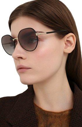 Женские солнцезащитные очки PRADA черного цвета, арт. 65XS-AAV0A7 | Фото 2