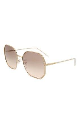 Женские солнцезащитные очки PRADA золотого цвета, арт. 52WS-ZVN4K0 | Фото 1 (Тип очков: С/з; Оптика Гендер: оптика-женское; Очки форма: Квадратные)