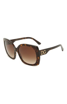 Женские солнцезащитные очки DOLCE & GABBANA коричневого цвета, арт. 4385-502/13 | Фото 1