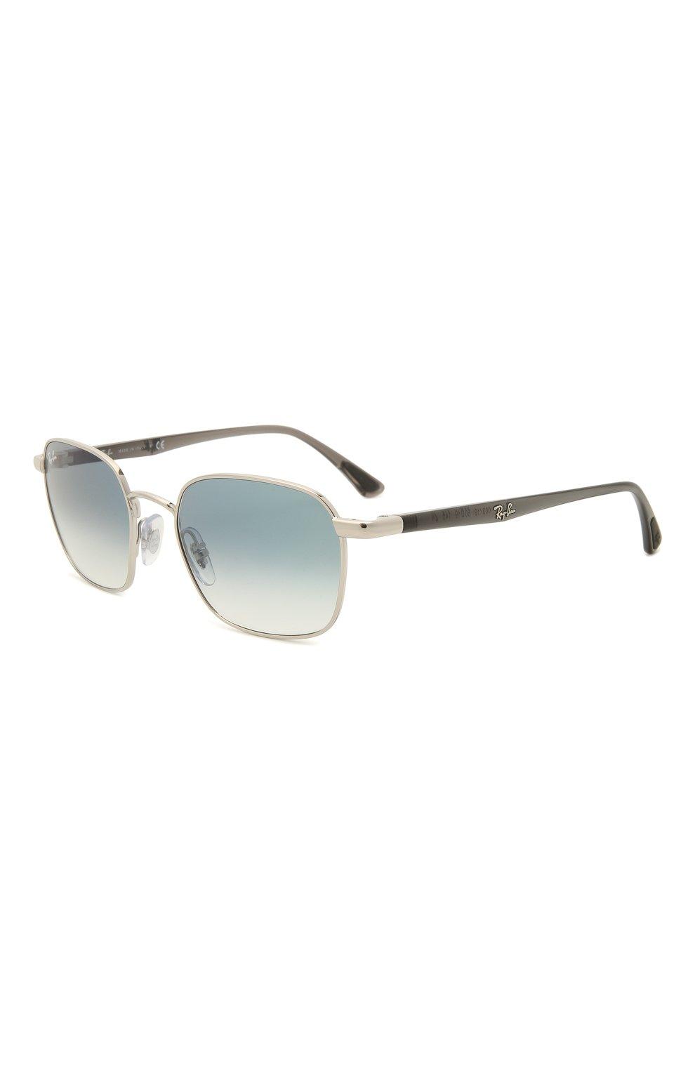 Женские солнцезащитные очки RAY-BAN серебряного цвета, арт. 3664-003/19 | Фото 1
