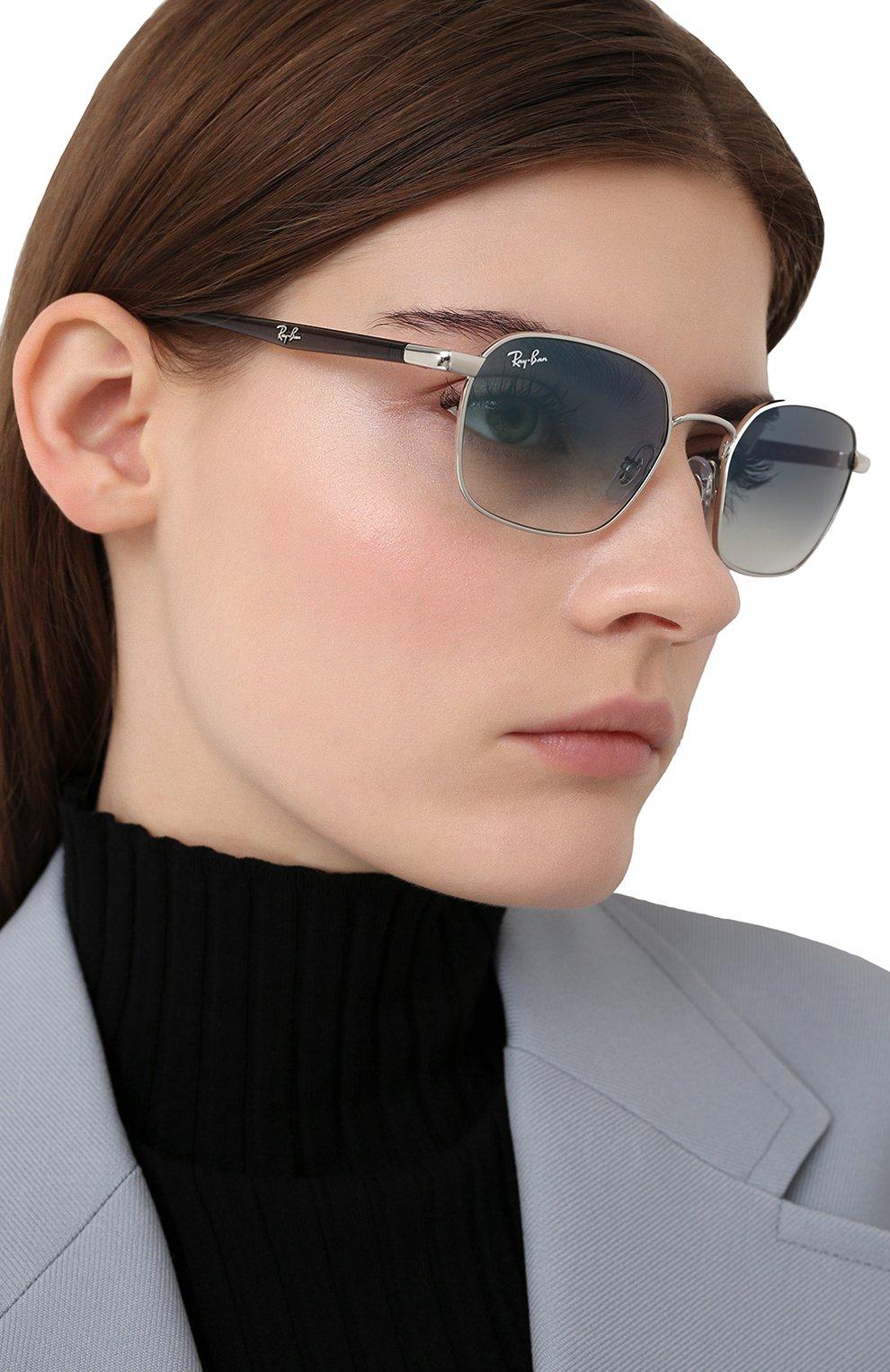 Женские солнцезащитные очки RAY-BAN серебряного цвета, арт. 3664-003/19 | Фото 2