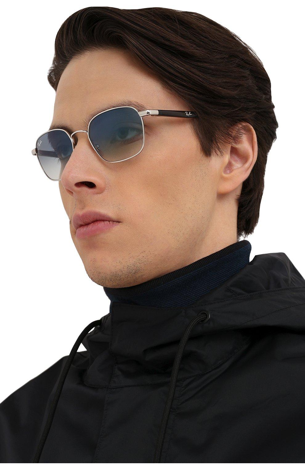 Женские солнцезащитные очки RAY-BAN серебряного цвета, арт. 3664-003/19 | Фото 3