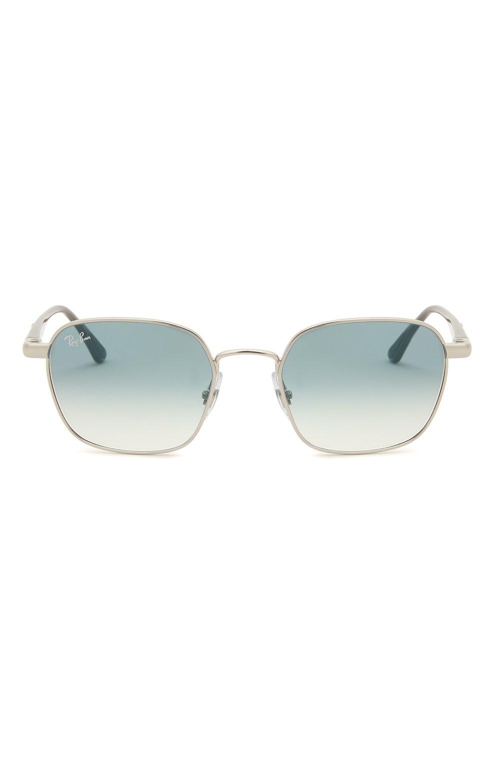 Женские солнцезащитные очки RAY-BAN серебряного цвета, арт. 3664-003/19 | Фото 4