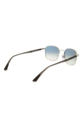 Женские солнцезащитные очки RAY-BAN серебряного цвета, арт. 3664-003/19 | Фото 5