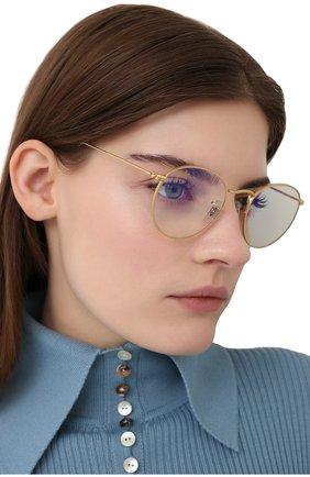 Женские солнцезащитные очки RAY-BAN золотого цвета, арт. 3447-9196BL | Фото 2