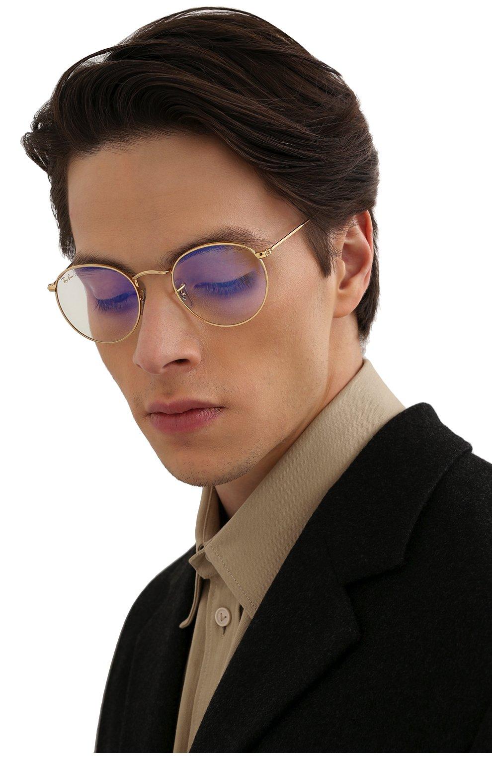 Женские солнцезащитные очки RAY-BAN золотого цвета, арт. 3447-9196BL | Фото 3