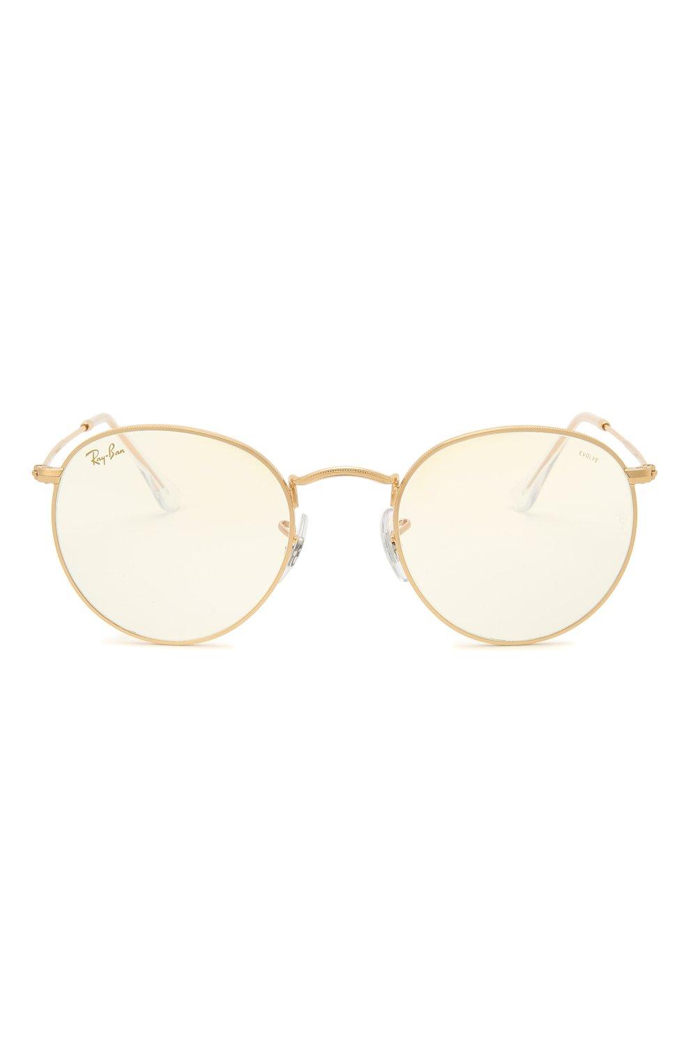 Женские солнцезащитные очки RAY-BAN золотого цвета, арт. 3447-9196BL | Фото 4