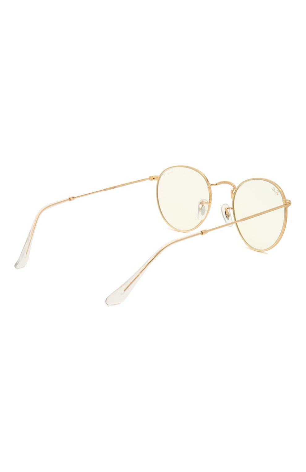 Женские солнцезащитные очки RAY-BAN золотого цвета, арт. 3447-9196BL | Фото 5