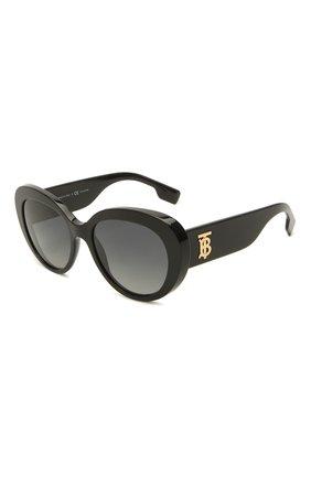 Женские солнцезащитные очки BURBERRY черного цвета, арт. 4298-3001T3   Фото 1
