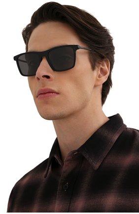 Мужские солнцезащитные очки PRADA черного цвета, арт. 19XS-07F08G | Фото 2