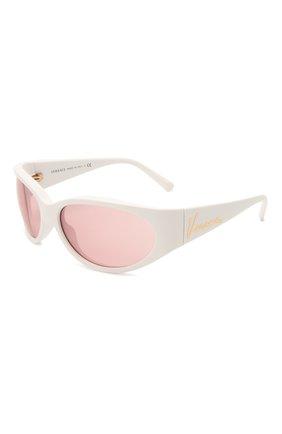 Женские солнцезащитные очки VERSACE белого цвета, арт. 4386-401/84 | Фото 1