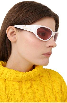 Женские солнцезащитные очки VERSACE белого цвета, арт. 4386-401/84 | Фото 2