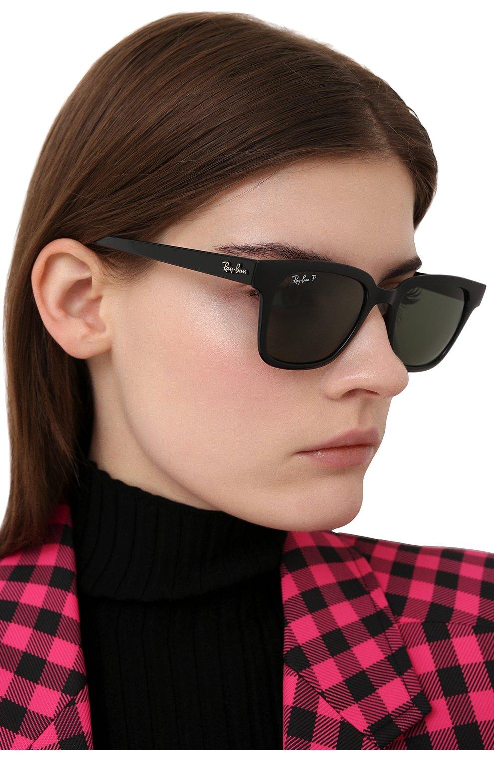 Женские солнцезащитные очки RAY-BAN черного цвета, арт. 4323-601/9A | Фото 2