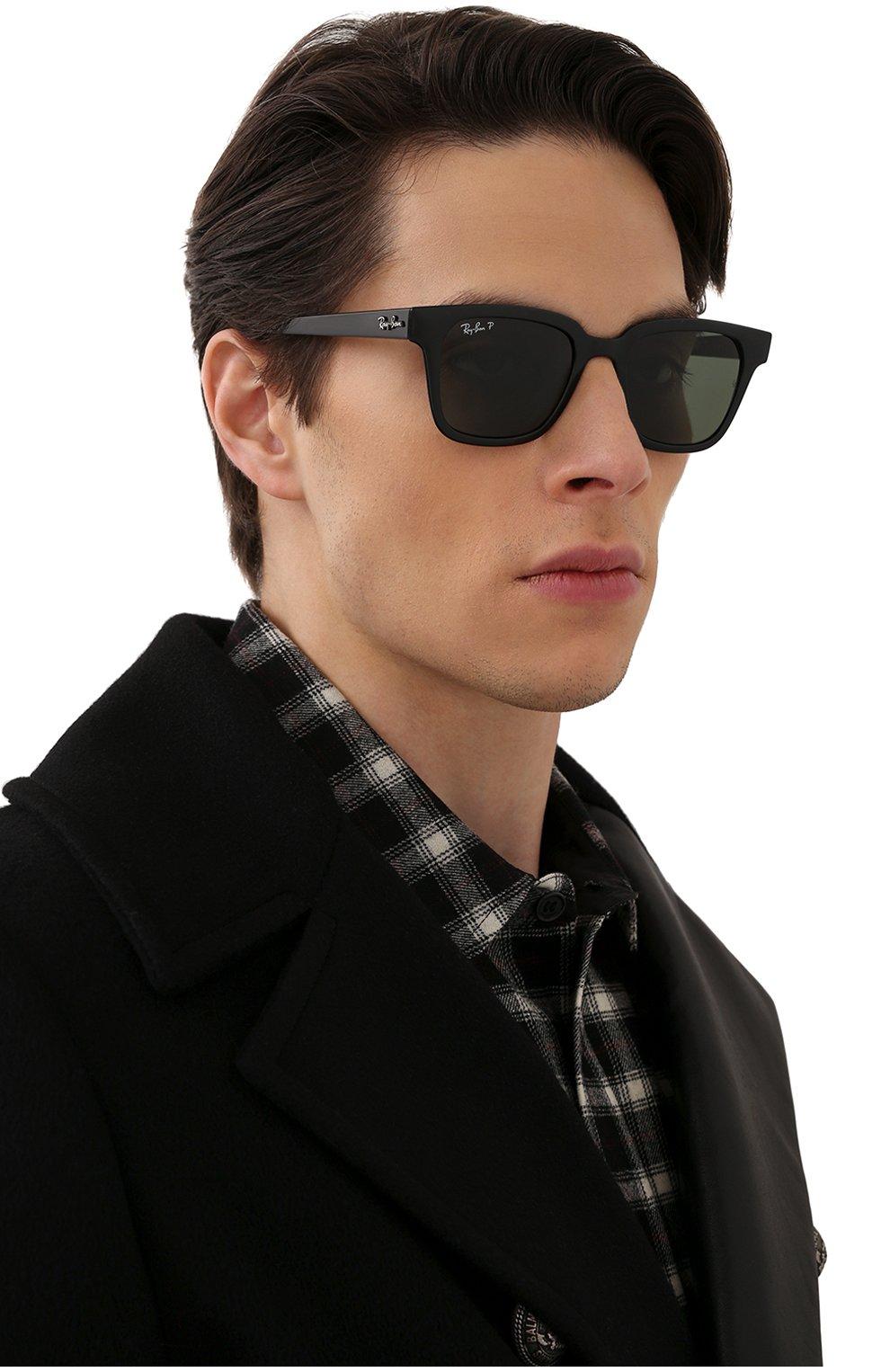 Женские солнцезащитные очки RAY-BAN черного цвета, арт. 4323-601/9A | Фото 3