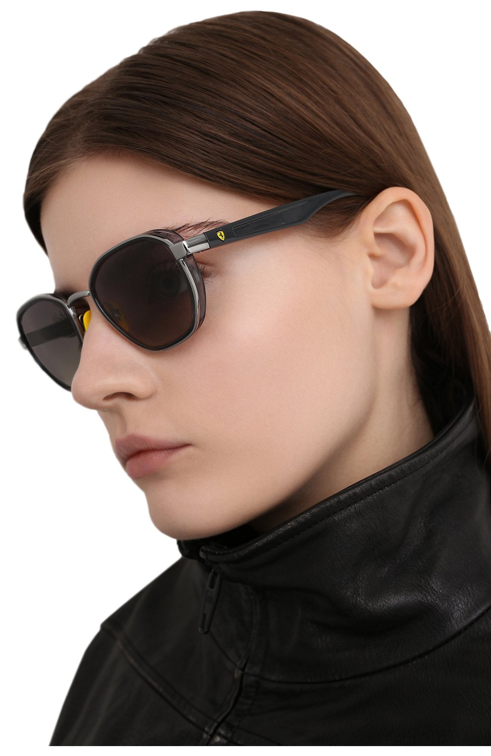 Женские солнцезащитные очки RAY-BAN серого цвета, арт. 3674M-F03011 | Фото 2