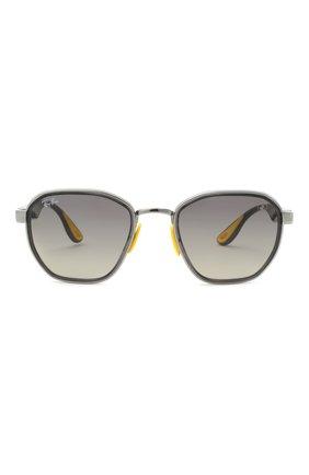 Женские солнцезащитные очки RAY-BAN серого цвета, арт. 3674M-F03011 | Фото 4