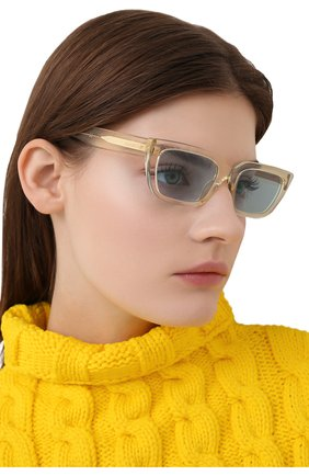 Женские солнцезащитные очки BURBERRY желтого цвета, арт. 4321-387980 | Фото 2