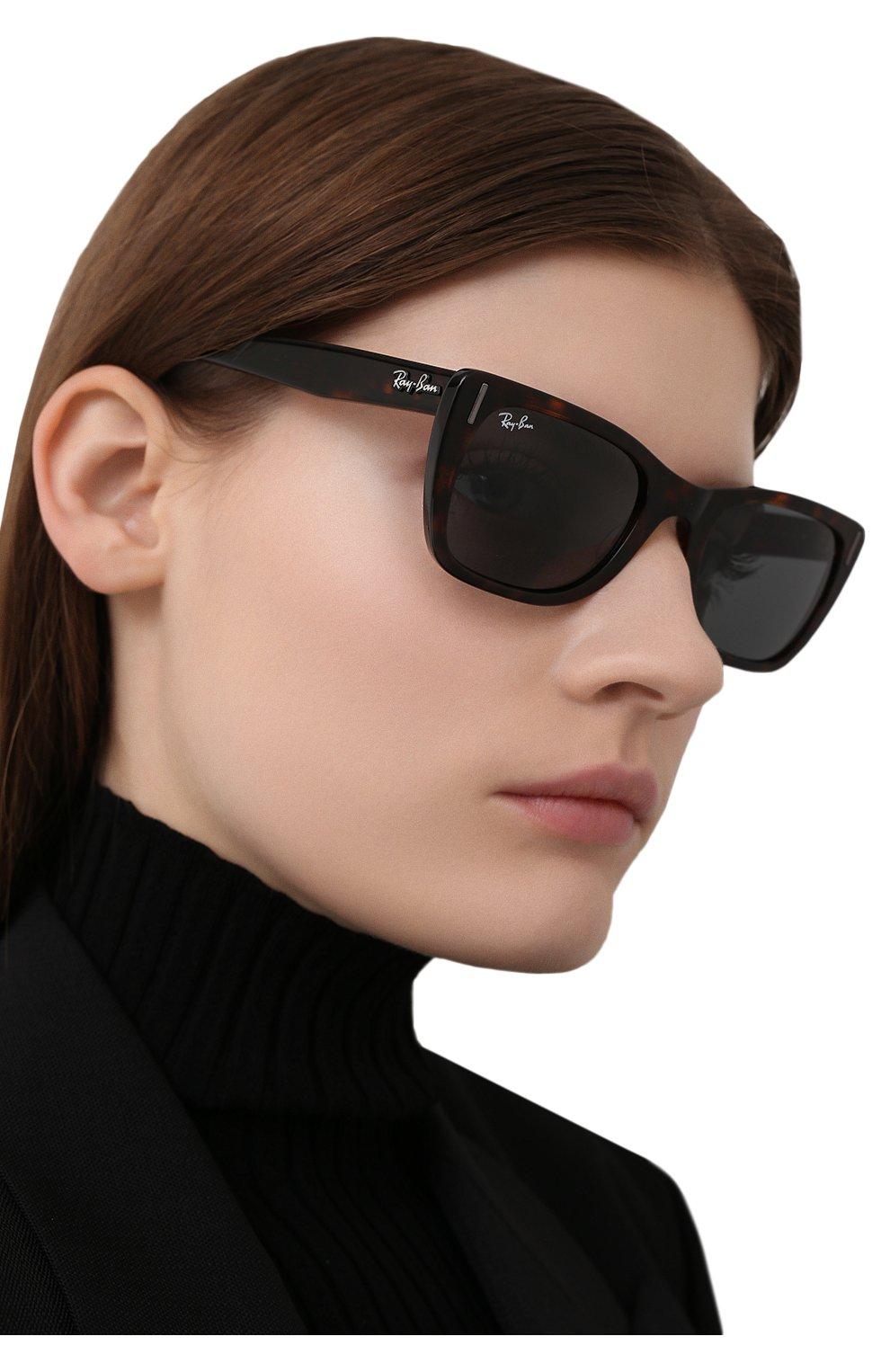 Женские солнцезащитные очки RAY-BAN коричневого цвета, арт. 2248-902/R5   Фото 2