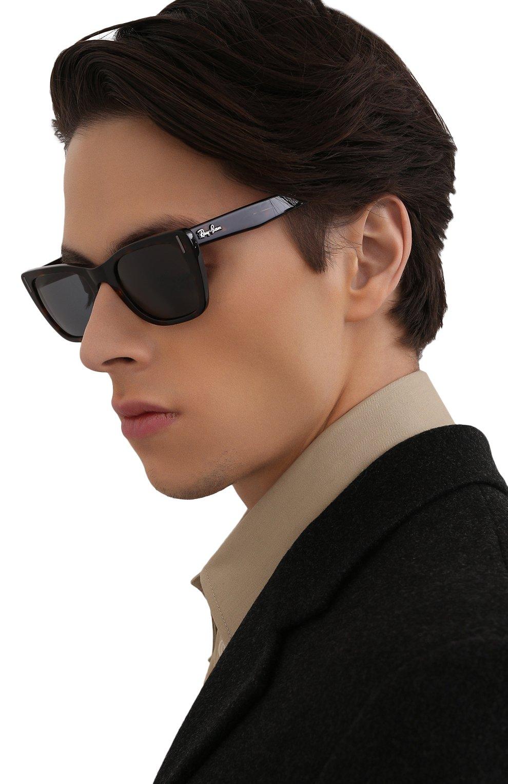 Женские солнцезащитные очки RAY-BAN коричневого цвета, арт. 2248-902/R5   Фото 3