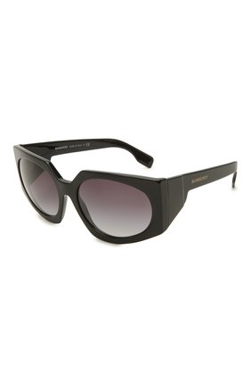 Женские солнцезащитные очки BURBERRY черного цвета, арт. 4306-30018G | Фото 1