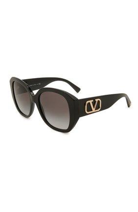 Женские солнцезащитные очки VALENTINO черного цвета, арт. 4079-50018G | Фото 1