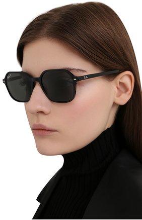 Женские солнцезащитные очки RAY-BAN черного цвета, арт. 2194-901/58 | Фото 2
