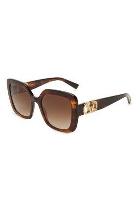 Женские солнцезащитные очки VALENTINO коричневого цвета, арт. 4065-515113 | Фото 1