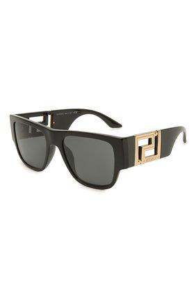 Женские солнцезащитные очки VERSACE черного цвета, арт. 4403-GB1/87 | Фото 1