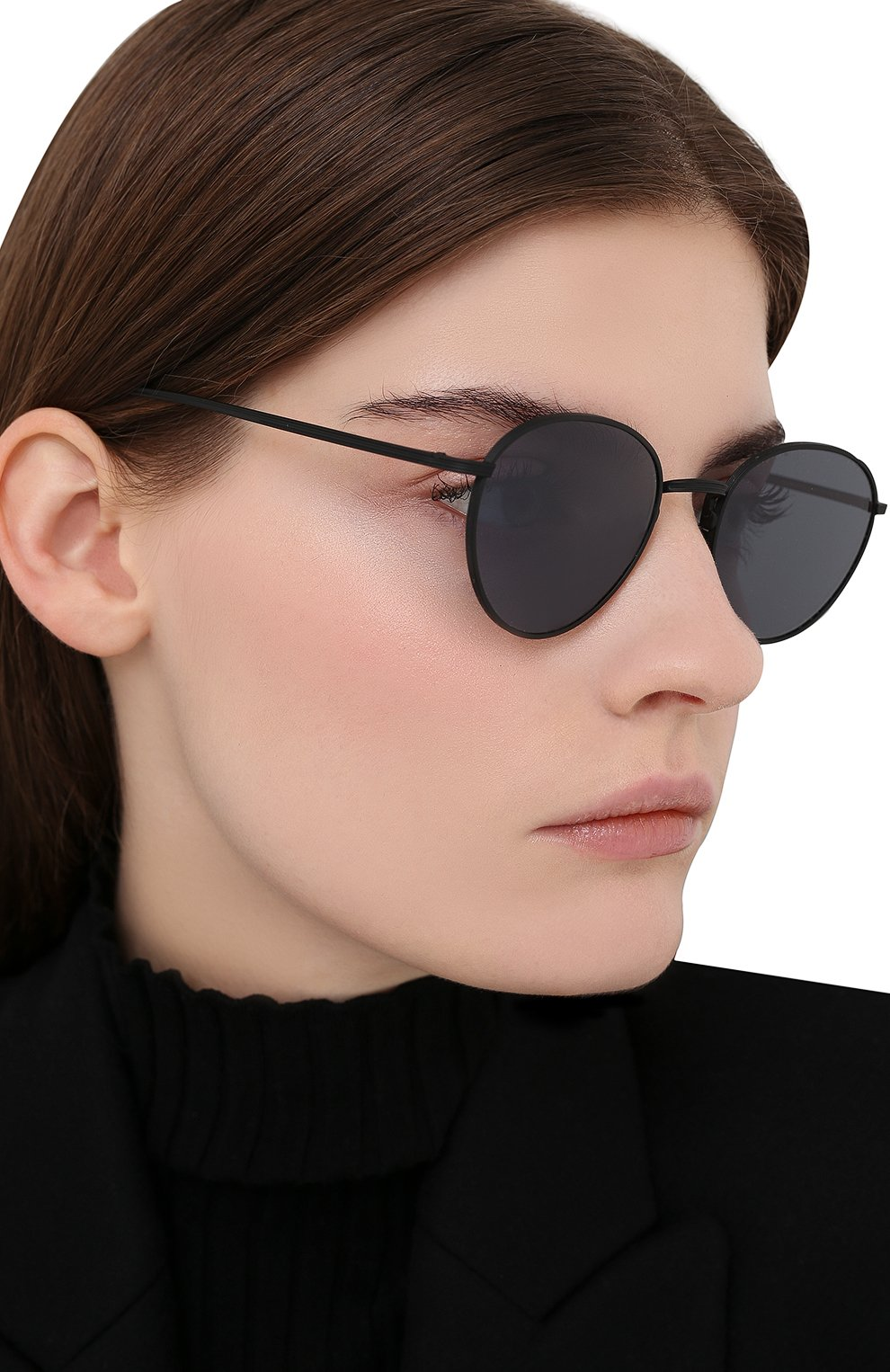 Женские солнцезащитные очки OLIVER PEOPLES черного цвета, арт. 1231ST-5017R5   Фото 2
