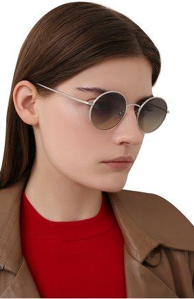 Женские солнцезащитные очки OLIVER PEOPLES серебряного цвета, арт. 1197ST-503632   Фото 2